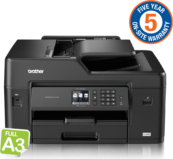 Brother A3 InkBenefit 4-in-1 MFC with Double-sided Printing/ wireless networking capabilities (5YR onsite)